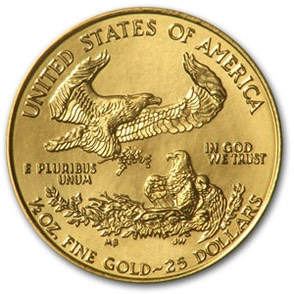 Half oz $25 American Eagle Gold Coins